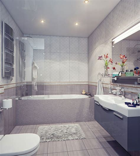 Modern Grey Bathroom Ideas Modern Bathroom With White And Grey Sink Interior Design Ideas