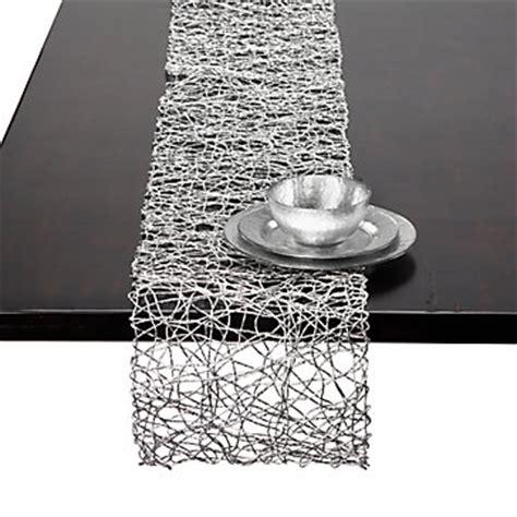 silver table runner nest runner runners table linens chargers