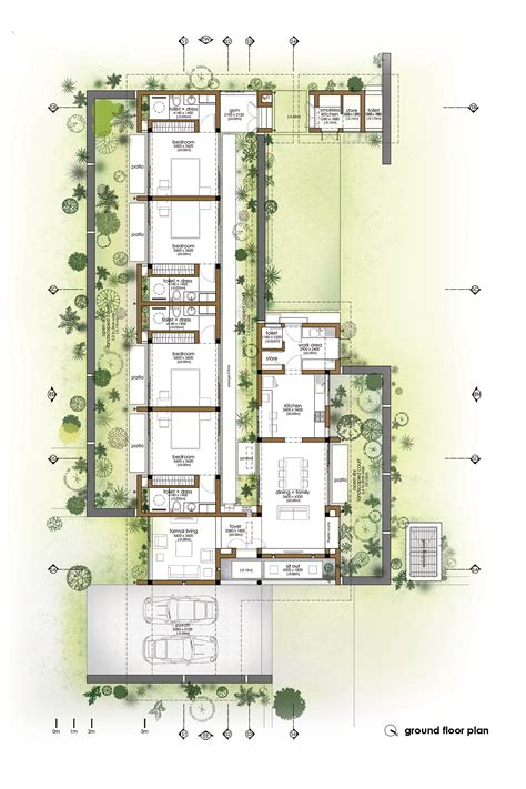 wall homes floor plans gallery of the walls and vaults house lijo reny