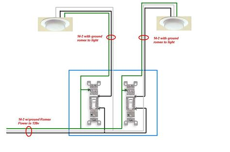 need to install 2 switches to 1 can each out of 4