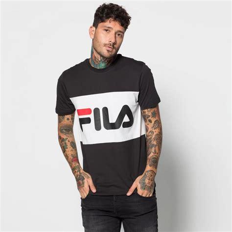 Kaos T Shirt Fila White Black fila shirts mens day black and white snag my home
