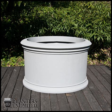 Commercial Fiberglass Planters by Solerno Fiberglass Commercial Planter 30in Dia X 24in H