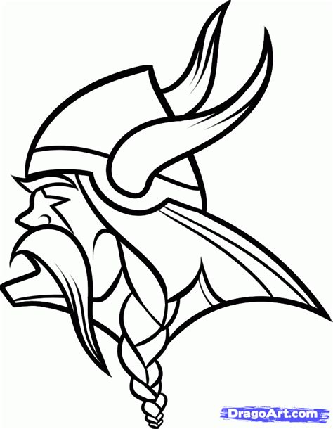 nfl vikings coloring pages step 7 how to draw the minnesota vikings