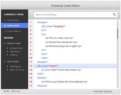 web design code editor how to create code editor design in photoshop tutorial