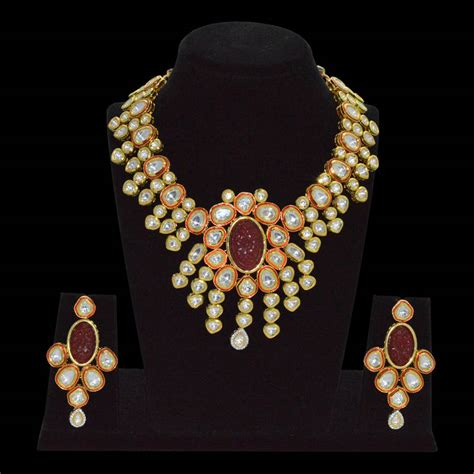 Handmade Kundan Jewellery - buy real kundan necklace set handmade
