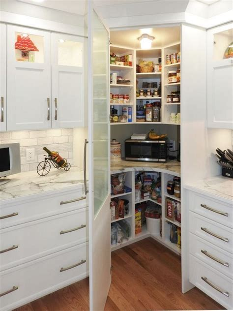 facts fiction  corner pantry ideas small kitchen