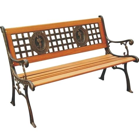 home depot benches parkland heritage fisherman patio park bench sl675co br