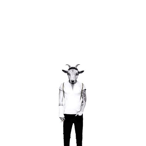 Kids Bookshelfs Hipster Goat Be Who You Are Wallpaper Mural Designed By