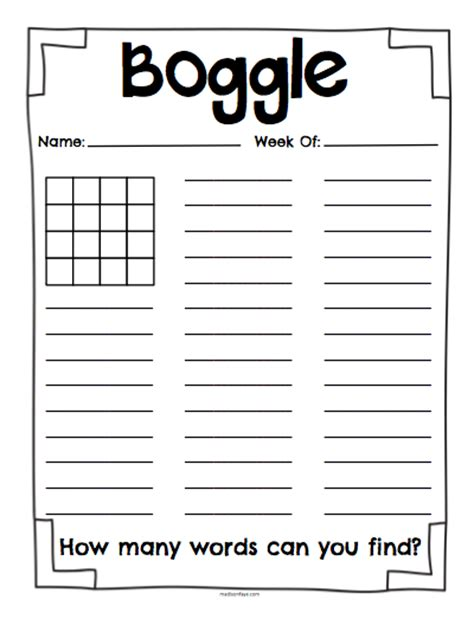 printable boggle word games free printable boggle letters boards clase de