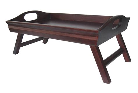 bed tv table winsome sedona bed tray tv table curved side foldable