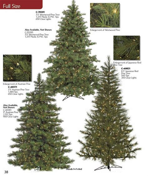 artificial christmas tree pre lit slim pine
