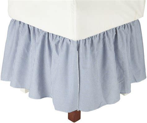 gingham bed skirt logan gingham check print 18 inch dust ruffle bed skirt