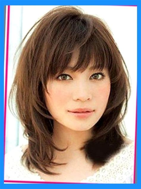 Wispy Hairstyles by Shoulder Length Hair With Wispy Bangs Brown Medium