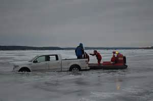 Truck Accessories In Big Lake Mn 2 Rescued After Truck Goes Through On Leech Lake