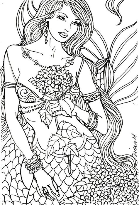 mermaids grayscale coloring book coloring books for adults books colouring the sea fish mermaids shells