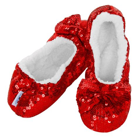 ruby slipper socks bling sequin snoozies slippers silver black blue