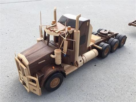 wooden kenworth kenworth and 48 wheel lowboy trailer by ryan haasen
