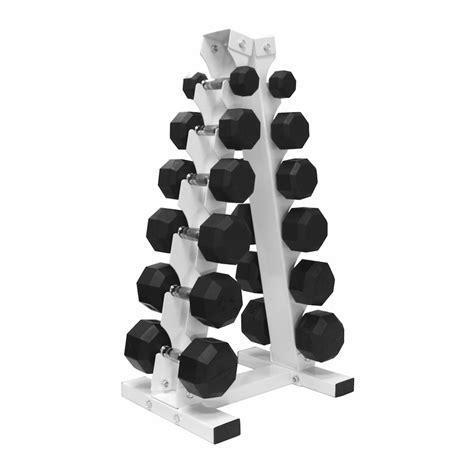 Dumbbell Rack Set by Vtx 5 30lb Rubber Coated Dumbbell Set W Vertical Rack