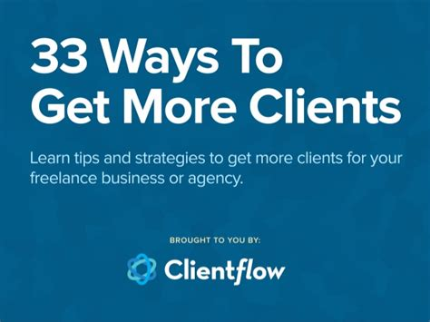 Ways To Get A by 33 Ways To Get More Clients