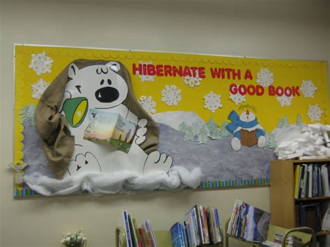 book themes for january winter bulletin boards