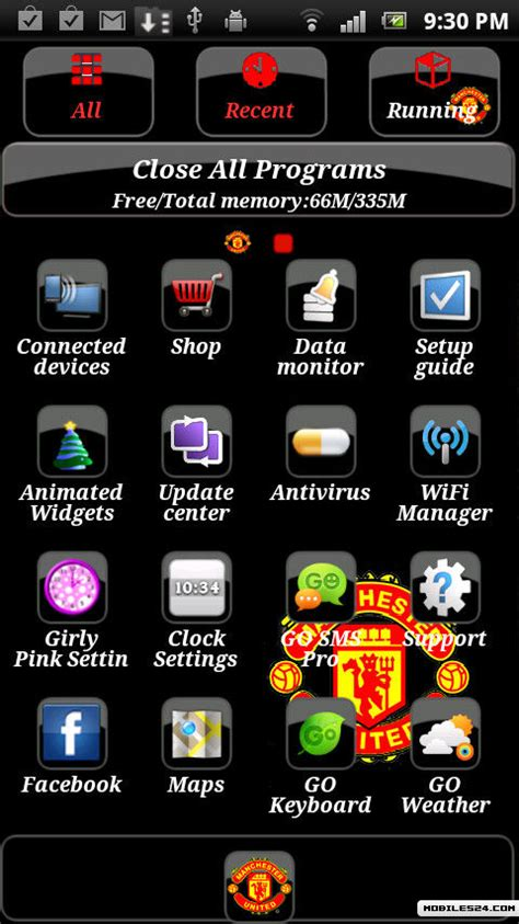 themes or launcher man utd go launcher theme free android theme download