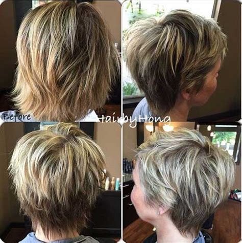 short hair with shag back view 20 short shag haircuts short hairstyles 2016 2017