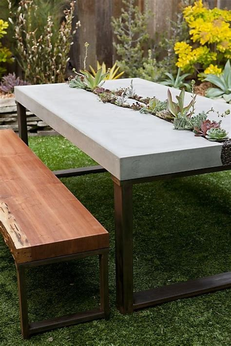 Concrete Patio Table And Benches 25 Best Ideas About Concrete Table On Pinterest Concrete Table Top Diy Concrete Countertops