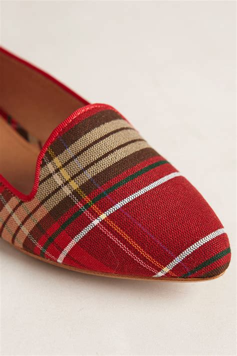 plaid loafers lyst joie woven plaid loafers in