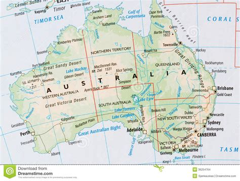 map of australia showing states the countries of australia map