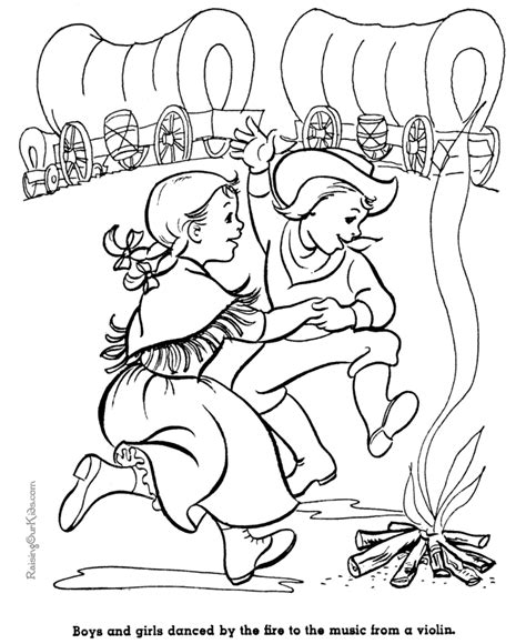 pioneer coloring coloring pages