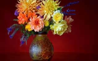 vintage vase flowers wallpaper 38285