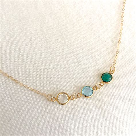 Family Birthstone Necklace Mother's Jewellery