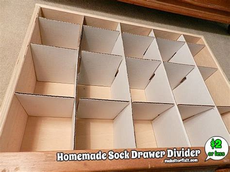 How To Make Dividers For Drawers by Sock Drawer Divider