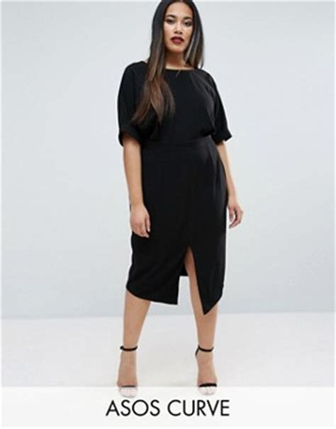 Elvi Plus V Neck Jumper plus size workwear work dresses shirts asos curve
