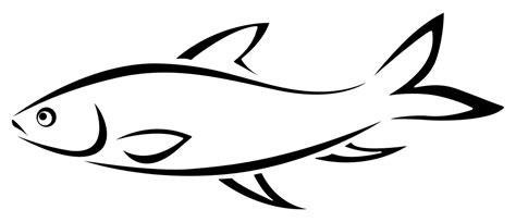 Onlinelabels Clip Art Fish Line Art