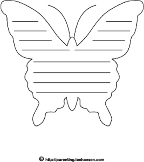 butterfly writing paper butterfly shape paper with lines