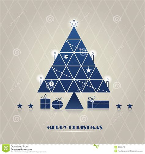 triangle christmas tree royalty  stock  image