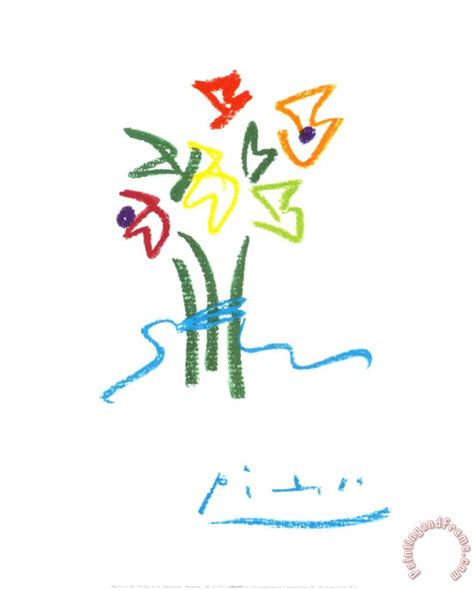 picasso paintings flowers pablo picasso evening flowers painting evening flowers