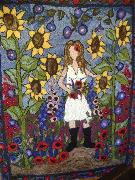 rug hooking daily in my garden new background rug hooking daily hooked rugs rug ispiration