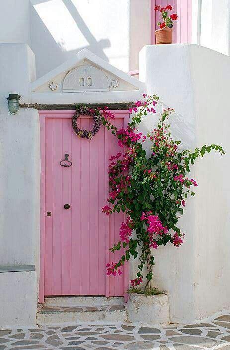 Pink Front Door Pink Door Greece Doors