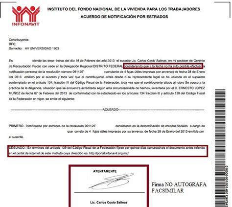 ley del infonavit 2015 pdf las quot nuevas quot notificaciones del infonavit por estrados