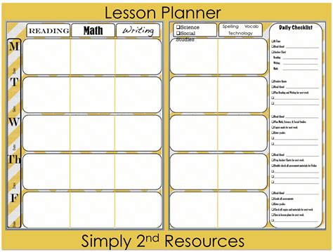 daily lesson plan template jpg
