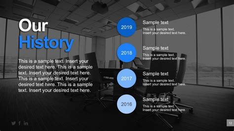 company history template business history timeline powerpoint templates slidemodel