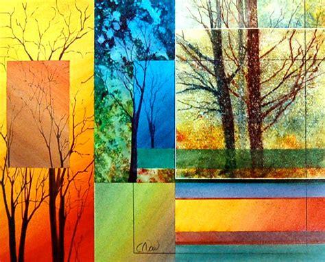 Painting 4 Seasons by Four Seasons Painting By Claude Noel