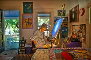 painting at home two distinctly different artists a common bond