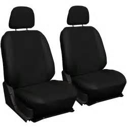 Seat Cover In Faux Pu Leather Solid Black Seat Cover Set Car Suv Truck