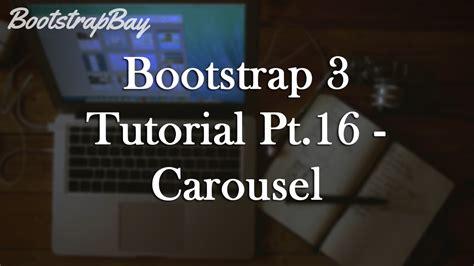 tutorial carousel bootstrap 3 bootstrap 3 tutorial pt 16 carousel youtube