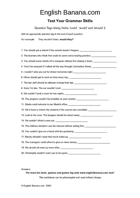 would could should worksheet geersc