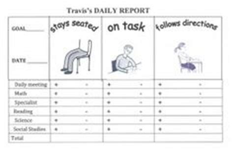 Daily Report Card Template For Adhd 1000 ideas about behavior report on weekly