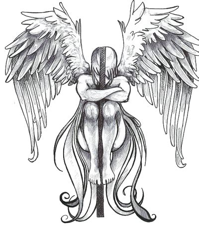 sad angel tattoo designs tattoos and designs page 58